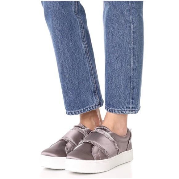 1ba5b82b1 Sam Edelman Satin Levine Slip On Sneakers 7.5M